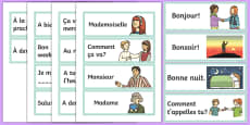 French Greetings Flashcards