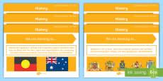 * NEW * Year 3 Australian HASS History Content Descriptors Display Pack