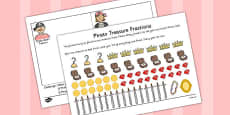 Pirate Treasure Fractions Find a Third Activity Sheet