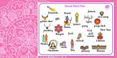 Diwali Word Mat