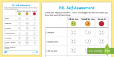 ROI Physical Education Self-Assessment Write-Up Activity Sheet