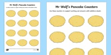 Addition Counters to Support Teaching on Mr Wolf's Pancakes
