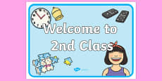 Welcome to 2nd Class Display Poster