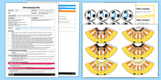 EYFS One Less Than Football Board Game Adult Input Plan and Resource Pack