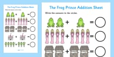The Frog Prince Addition Sheet