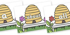 100 High Frequency Words on Beehives