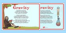 Gravity Poems Display Posters