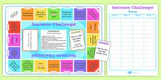 Complex Sentences Challenge Game