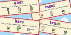 Final Phoneme Deletion Picture Matching Cards