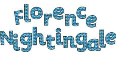 'Florence Nightingale' Display Lettering