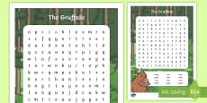 Character Word Search to Support Teaching on The Gruffalo