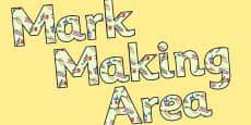 Mark Making Area Display Lettering