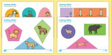 Safari Themed Cutting Skills Activity Sheets