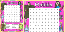 Word Search to Support Teaching on Matilda