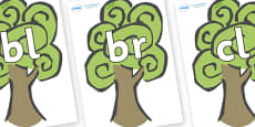 Initial Letter Blends on Trees
