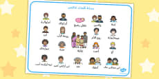 Family Word Mat Arabic