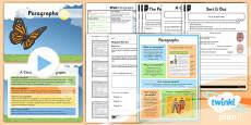 PlanIt Y4 SPaG Lesson Pack: Paragraphs