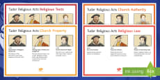 Tudor Religious Acts Display Posters
