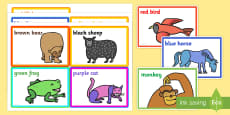 Colour Prompt Cards to Support Teaching on Brown Bear Brown Bear