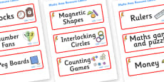 Parrot Themed Editable Maths Area Resource Labels