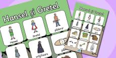Hansel și Gretel - Poster cu vocabular din poveste