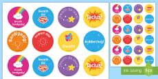 * NEW * Welsh Second Language Reward Stickers
