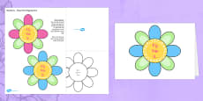 Mother's Day Flap Flower Card Template for Nans