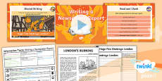 Time Travel: The Great Fire of London: Recounts 4 Y1 Lesson Pack