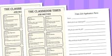 Transition Classroom Job Application Adverts and Form