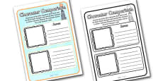 Character Comparison Activity Sheets to Support Teaching on James and the Giant Peach