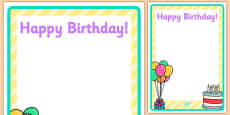 Birthday Party Editable Poster