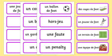 Rio 2016 Olympics Football Word Cards French