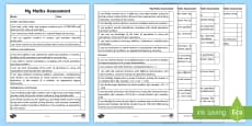 Year 6 Maths Assessment I Can Statements Checklist