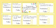 Tarjetas de desafío de matemáticas - Fracciones