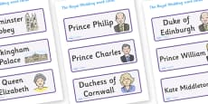 The Royal Wedding Word Cards