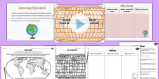 Lines of Latitude and Longitude Teaching Pack