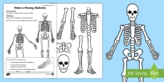 A Moving Skeleton Activity Sheet