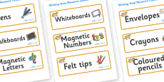 Puma Themed Editable Writing Area Resource Labels