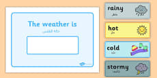 Weather Display Arabic Translation