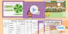 PlanIt Y1 Term 2A W6: Days of the Week Spelling Pack
