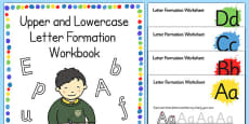 Upper and Lowercase Letter Formation Workbook