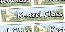Kestrel Themed Classroom Display Banner