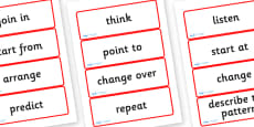 Year Four Numeracy Vocabulary Word Cards - Instructions