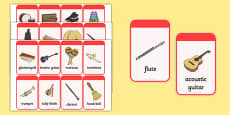 Musical Instrument Flashcards