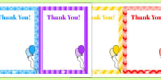 10th Birthday Party Thank You Notes