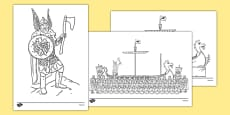 Up Helly Aa Colouring Sheets