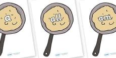 Foundation Stage 2 Keywords on Pancakes