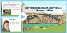 Scottish Significant Individuals Thomas Telford PowerPoint