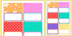 Birthday Party Editable Food Labels