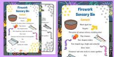 Firework Sensory Bin